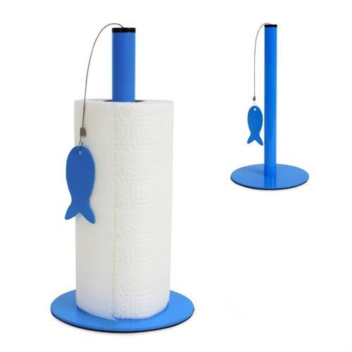 מתקן נייר מטבח דג כחול