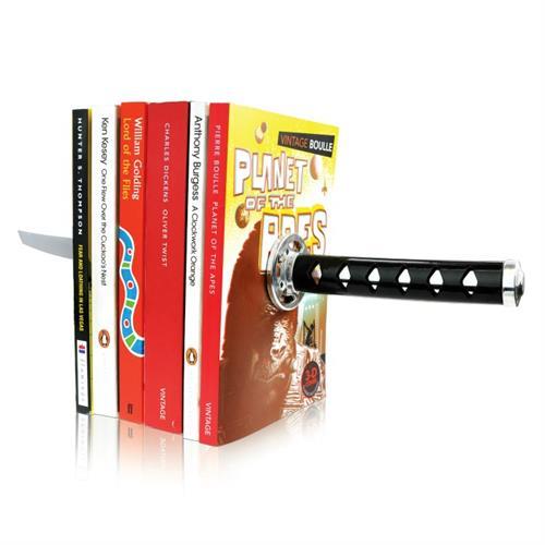 זוג תומכי ספרים מגנטיים חרב סמוראי