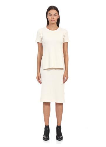 MM6 DRESS PIQUE CREAM