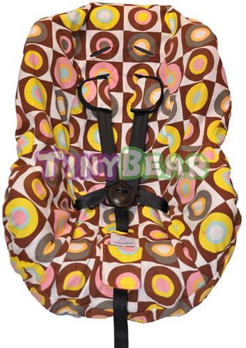 כיסוי כסא בטיחות עיגולים חום