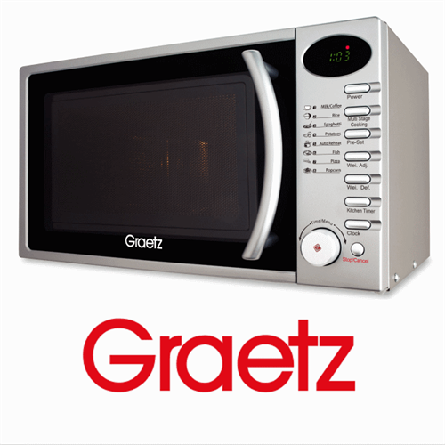 Graetz מיקרוגל דיגיטלי 20 ליטר כסוף   דגם: MW-356 מתצוגה