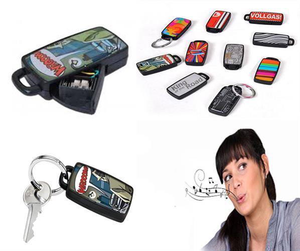 מחזיק מפתחות מאתר מפתחות בשריקה