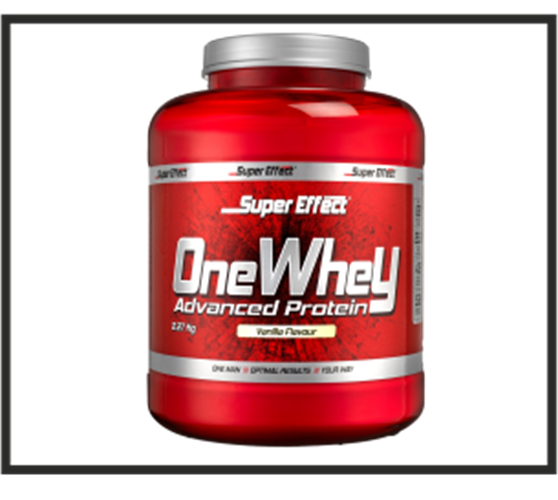 אבקת חלבון כשרה ONE WHEY  2.3kg  Super Effect  + שייקר וחטיף חלבון מתנה
