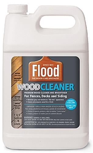 מנקה ומבהיר עץ ווד קלינר 3.75 ל' FLOOD