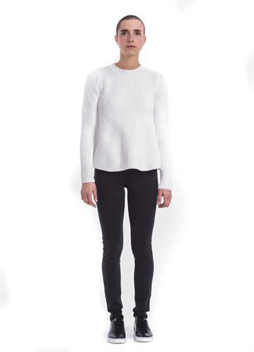 WHITE MM6 TRAPEZE SWEATER